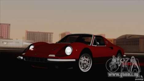 Ferrari 246 Dino GTS pour GTA San Andreas sur la vue arrière gauche