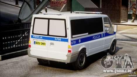 Ford Transit Polish Police [ELS] pour GTA 4 est une vue de l'intérieur