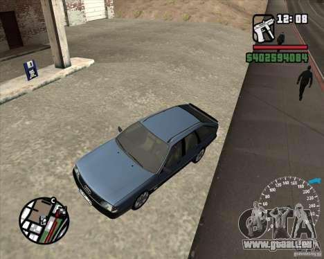 Audi 100 Avant pour GTA San Andreas vue intérieure