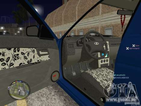 VAZ Lada 2170 Priora pour GTA San Andreas vue de côté