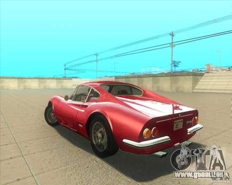 Ferrari Dino 246 GT pour GTA San Andreas laissé vue