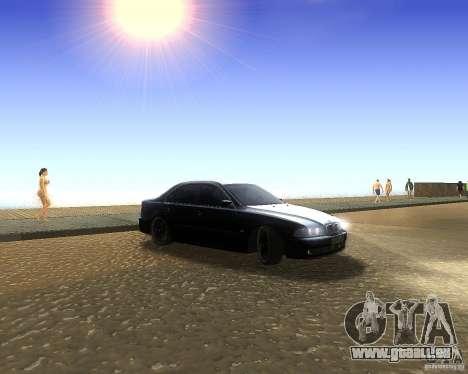 BMW 525i e39 pour GTA San Andreas laissé vue