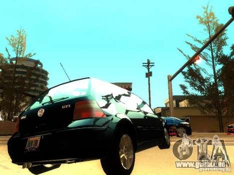 Volkswagen Golf 4 GTI für GTA San Andreas rechten Ansicht