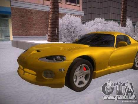 Dodge Viper 1996 für GTA San Andreas zurück linke Ansicht