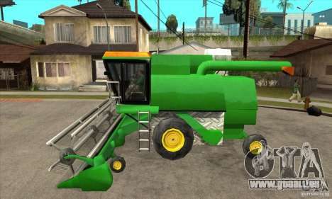 Combine Harvester Retextured pour GTA San Andreas laissé vue