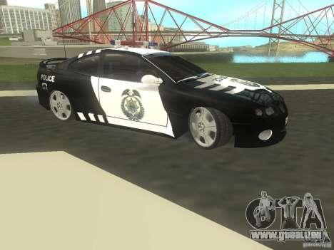 Pontiac GTO Police für GTA San Andreas linke Ansicht