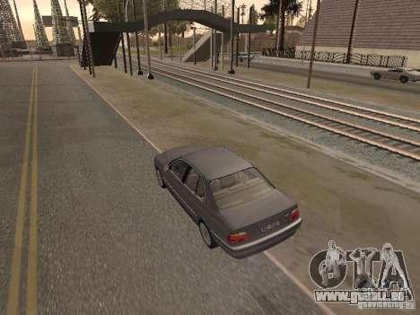 BMW 740 pour GTA San Andreas laissé vue