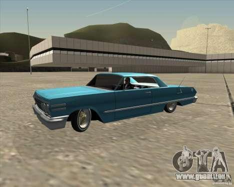 Chevrolet Impala 1963 lowrider pour GTA San Andreas vue de côté