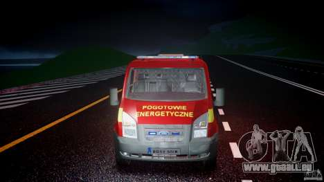 Ford Transit Polski uslugi elektryczne [ELS] pour GTA 4 vue de dessus