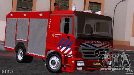 Mercedes-Benz Actros Fire Truck pour GTA San Andreas laissé vue
