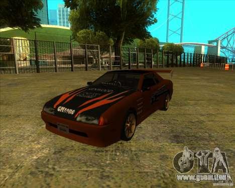 Elegie mit den neuen Spoilern für GTA San Andreas zurück linke Ansicht