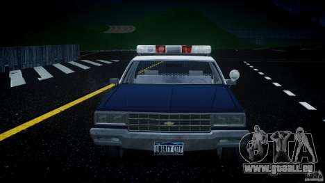 Chevrolet Impala Police 1983 v2.0 für GTA 4 Unteransicht
