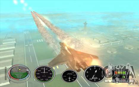 Lancement rapide de la fusée à Hydra et Hunter pour GTA San Andreas quatrième écran