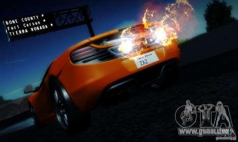 McLaren MP4-12C TT Black Revel pour GTA San Andreas vue de côté