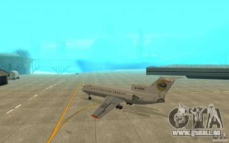 Jak-42D von Lemberg (Ukraine) für GTA San Andreas rechten Ansicht