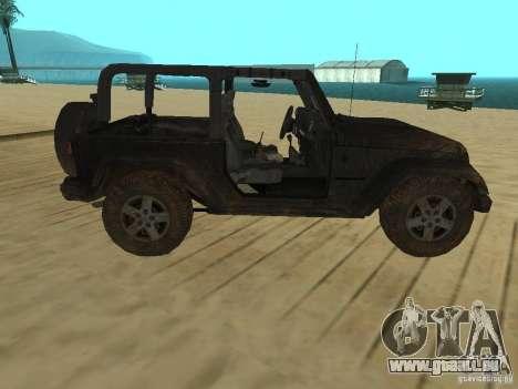 Jeep Wrangler SE pour GTA San Andreas laissé vue