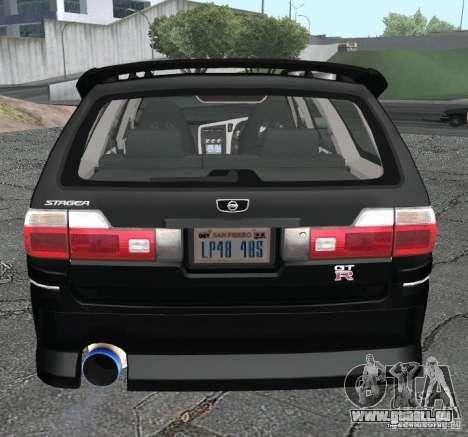 Nissan Stagea für GTA San Andreas zurück linke Ansicht