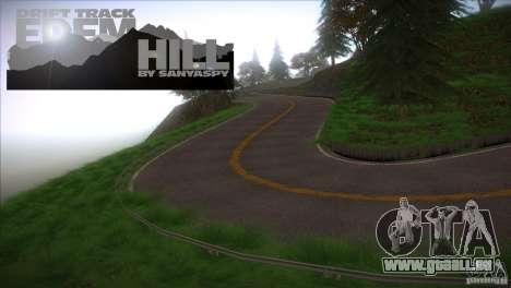 Edem Hill Drift Track pour GTA San Andreas troisième écran