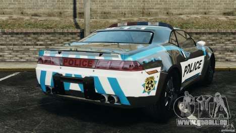 NFSOL State Police Car [ELS] pour GTA 4 Vue arrière de la gauche