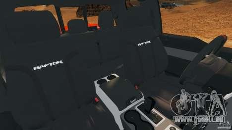 Ford F-150 SVT Raptor pour GTA 4 est une vue de l'intérieur