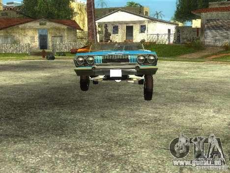 Chevrolet Impala 1964 (Lowrider) pour GTA San Andreas vue de droite