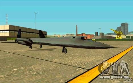 SR-71A BLACKBIRD BETA für GTA San Andreas rechten Ansicht