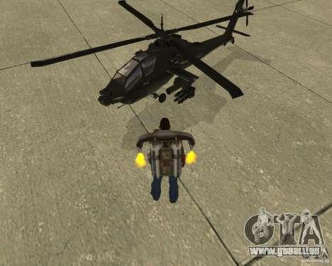 Transport aérien Pak pour GTA San Andreas vue de côté