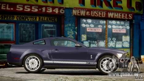 Shelby GT500KR 2008 pour GTA 4 est une gauche