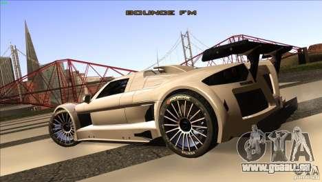 Gumpert Apollo pour GTA San Andreas vue arrière