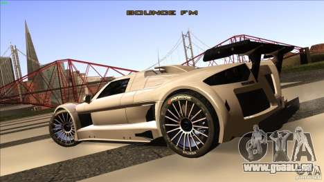 Gumpert Apollo für GTA San Andreas Rückansicht