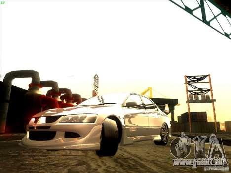 Mitsubishi Lancer Evolution VIII Full Tunable pour GTA San Andreas sur la vue arrière gauche