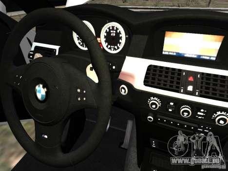 BMW M5 pour GTA 4 vue de dessus