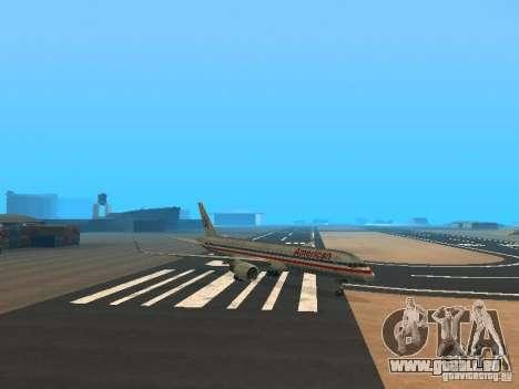 Boeing 757-200 American Airlines pour GTA San Andreas laissé vue