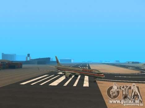 Boeing 757-200 American Airlines für GTA San Andreas linke Ansicht