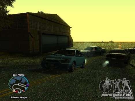 Subaru Impreza Wagon 2004 - 2002 pour GTA San Andreas sur la vue arrière gauche