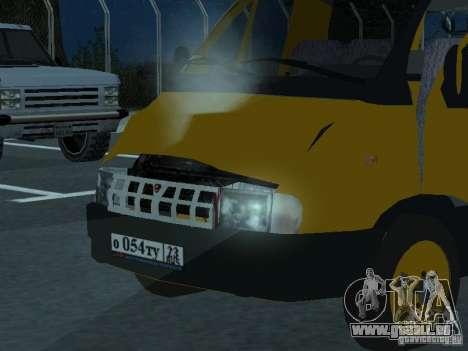 Gazelle-taxi für GTA San Andreas Rückansicht