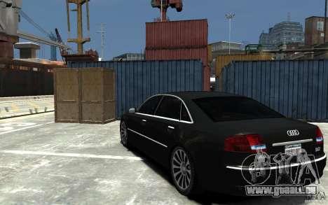 Audi A8L W12 Quattro pour GTA 4 Vue arrière de la gauche