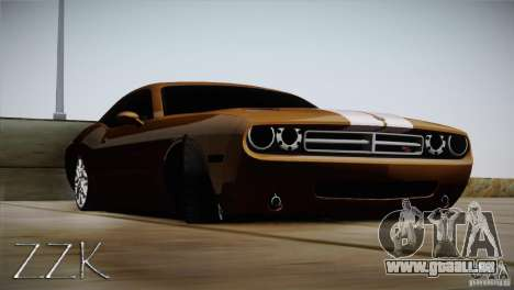 Dodge Challenger Socado Com Rotiform FIXA pour GTA San Andreas sur la vue arrière gauche