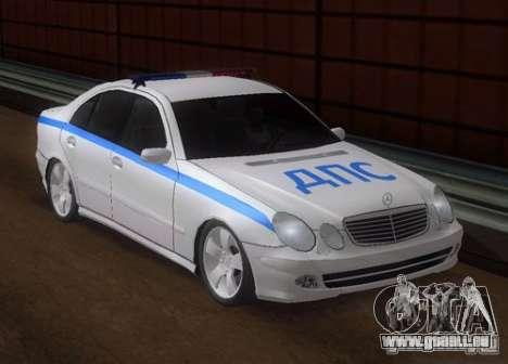 MERCEDES BENZ E500 w211 SE Police Russie pour GTA San Andreas