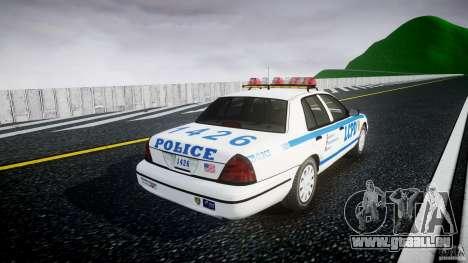 Ford Crown Victoria Police Department 2008 LCPD pour GTA 4 est une vue de l'intérieur