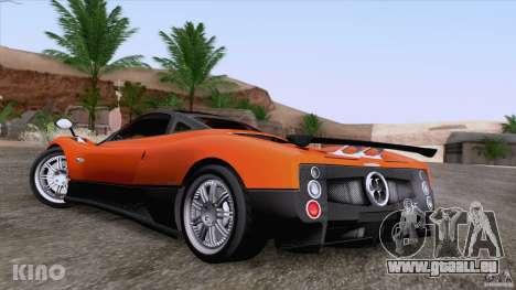 Pagani Zonda F pour GTA San Andreas vue de dessous