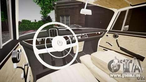 Mercedes Benz W111 Final für GTA 4 Rückansicht