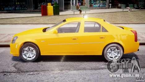 Cadillac CTS Taxi pour GTA 4 est une vue de l'intérieur