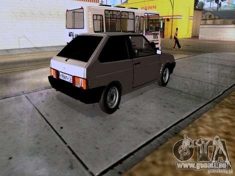 Drain de VAZ 2108 pour GTA San Andreas sur la vue arrière gauche