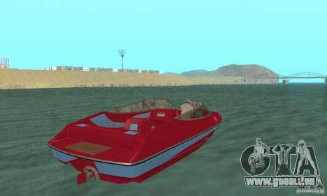 Speedboat pour GTA San Andreas laissé vue
