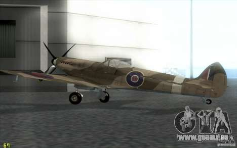 Spitfire pour GTA San Andreas laissé vue