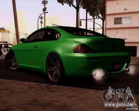 BMW M6 für GTA San Andreas Innenansicht
