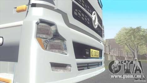 DongFeng Denon pour GTA San Andreas sur la vue arrière gauche