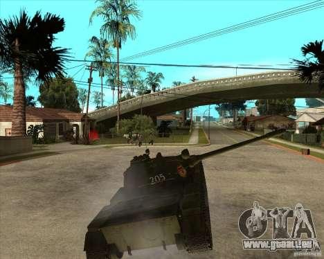 T-55 pour GTA San Andreas vue intérieure
