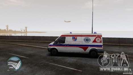 Ford Transit Ambulance pour GTA 4 Vue arrière de la gauche